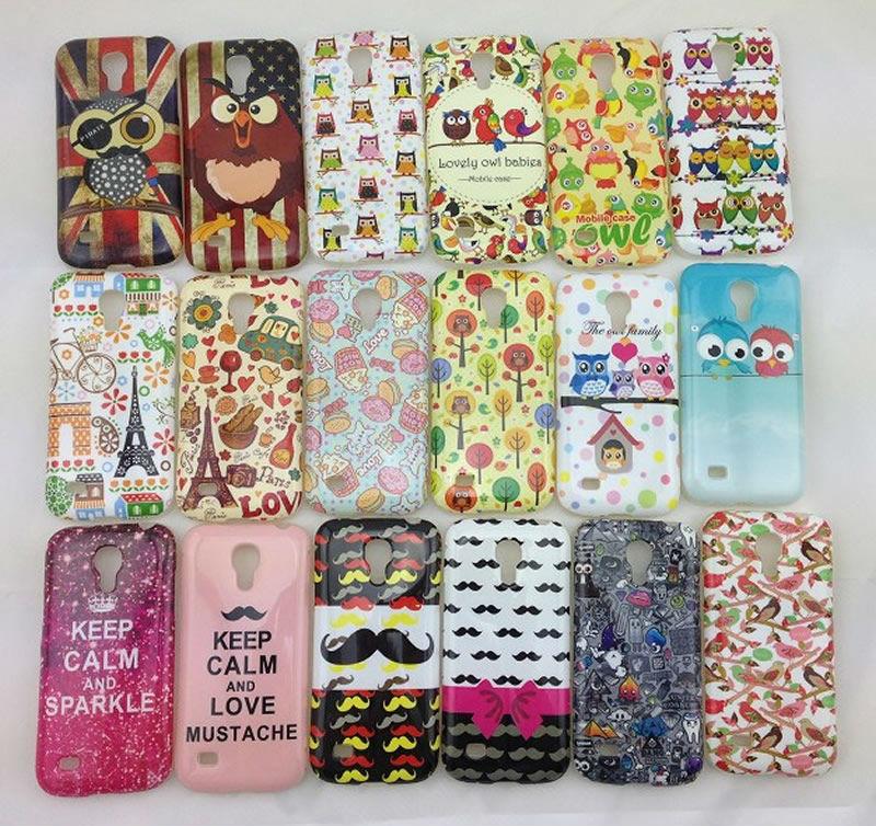 Lovely Soft TPU Cartoon Case for Samsung Galaxy S4 mini i9190 Fashion Moustache Owl Cake Design Phone Cases Wholesale 100pcs/lot(China (Mainland))