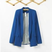 Free shipping new 2014 spring fashion women suit, slim one button jacket , plus size blazer