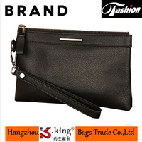 2014 Luxury Brand mens wallet leather genuine With zipper , High quality carteira masculina free shipping