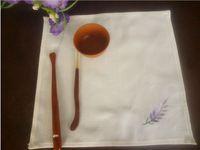 French lavender embroidered napkin Handkerchief napkin