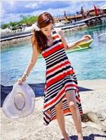 2014 irregular stripe condole hem the dress