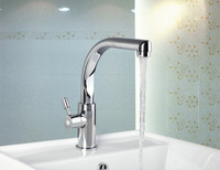 8453-2 Brand New Swivel Chrome Bathroom Basin Kitchen Sink Faucet Mixer Tap