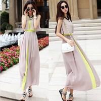 Summer Dress  large size women's beach dress bohemian chiffon influx summer long dresses for women  RD-102