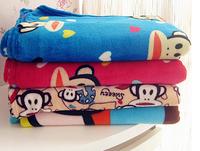 Free shipping - Big mouth monkey blanket Flange blanket Big mouth monkey bed blanket