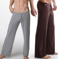 Male silky loose casual pants breathable casual trousers drawstring yoga pants Men lounge pants pajama pants