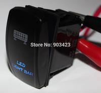 Laser Etch 5P SPST 24V LED LIGHT BAR Green & Blue Led Light Rocker Switch Fr Boat  PATROL GU GQ 80 NISSAN JEEP