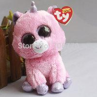 "IN HAND!   Rare Ty beanies Boo Cute Big eyes Animal ~Magic pink Unicorn~~Plush doll 6"" 15cm Stuffed TOY BEST GIFT free shippin"