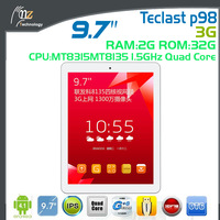 Teclast P98 3G/WCDMA 9.7 inch IPS Retina Android4.2 Tablet pc MTK8135 A15/Quad core/1.5GHz 2GB/32GB GPS 13.0MP