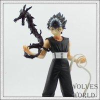 free shipping classic anime Cartoon YuYu Hakusho Urameshi Yuusuke Cosplay 19cm pvc figure model toy gift