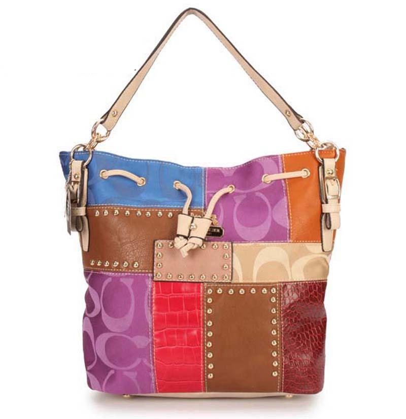 Pieced Patchwork Shoulder Bag Patchwork Shoulder Bag