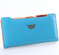 New 2014 Female Wallet Solid Letter Wallet Women Pu Leather Zipper Carteras Women Clutch Purse High Quality Designer Wallets