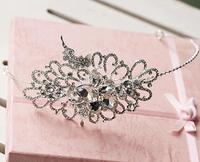Crystal Bridal Hairband Hair Jewelry Rhinestone Headpiece Wedding Headband Hair Accessories Bride Headwear Ornament WIGO0292