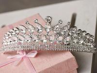 Crystal Princess Crown Rhinestone Wedding Tiara Diadem Bridal Hair Accessories Pageant Crowns Hair Jewelry Headpieces WIGO0290
