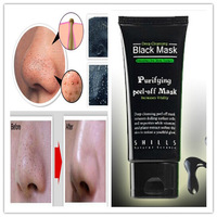 Best Selling SHILLS Deep Cleansing purifying peel off Black mud Facail face mask Remove blackhead facial mask 50ml 5pcs/lot