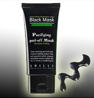 Deep Cleansing purifying peel off Black mud facail face mask remove blackhead facial mask 50ml,free shipping 3pcs/lot