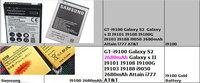 AAA+ battery GT-i9100 Galaxy S2 for Galaxy s II I9101 I9108 I9100G I9103 I9188 i9050 Attain i777 AT&T for samsung phone