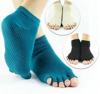 30pairs/ots peep-toe antiskid five fingers socks yoga socks 7colors u can mix