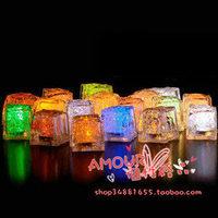 Colorful Fake Ice Luminous Fluorescence Ice Decoration Bar Wedding Supplies Enter the Water Glow Ice LED