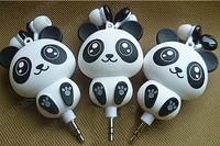 cartoon automatic retractable earphones for mobile phone computer cartoon earphones ,free shipping