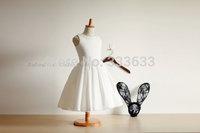 High quality Satin Tulle Flower Girl Dresses Kids Dresses free shipping