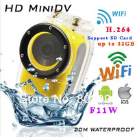 2014 New WIFI sport camera Full HD 1920x1080p HD20M Waterproof helmet sports camera baby monitor