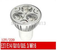 LED lights cup/3w led spotlight/ 220V E27/ Gu5.3/ GU10 / E14/12 v MR16/LED lamps(1lot=6pcs) with free shipping