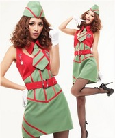 New arrival female spies cosplay uniform of police man costume temptation sexy stewardess used for Photo studio clothes