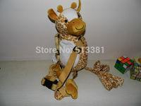 Promotion! 1 piece Harness Buddy Animal Reins Giraffe Goldbug's Harness Buddy Back Packs Plush Toy Backpack Baby Harness Buddy