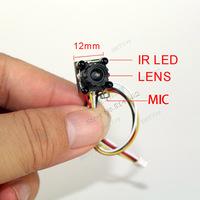 4pcs iR LED DIY CCTV Mini Camera 600TVL CMOS Camera with Mic