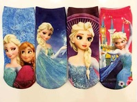 2014 New lovely baby girl socks cartoon frozen socks fashion cute kids ankle socks beautiful girls sock 12pairs/lot