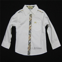 boy's shirt 2014 turn down collar brand long sleeve david beckham kids handsome shirt atacado roupas infantil