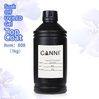 China manufacturer 1 kg uv gel top coat  #808W