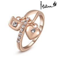 Italina Rigant New Arrival 18K Rose Gold Plated Ring Made With Austrian Crystal Stellux Hight Quality #RG95111