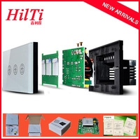Free Shipping,China Hilti New Fan Switch, Speed Regulation, White Crystal Glass Panel, AC 110~240V Home Wall Switch