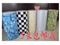 PVC imitation plating aluminum foil Mosaic sticker kitchen oil stickers sticky wallpaper wallpaper from the bathroom mirror