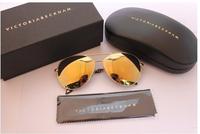2014 Free shipping New Brand Designer VB Aviator Sunglasses men women Eye Glasses wear victoria beckham Large Coating lenses