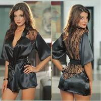 Sexy Underwear Women Black Lace Stain Intimate Sleepwear Babydoll Dress Nightwear B53