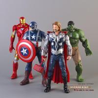 "The Avengers Super Heroes Captain America Thor Hulk Iron Man PVC Action Figure Collection Model Toys Dolls 8"" 20CM 4pcs/set"