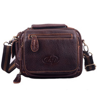 Free Shipping 2014 Vintage Casual Leather Men Waist Pack Hot Sell Bag morer #