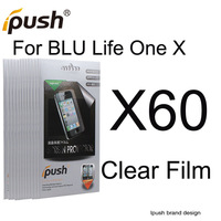 60 pcs/lot High Quality Clear Screen Protector Film For BLU Life One X Screen Protector Ipush Package Free Shipping