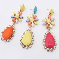 NEW ARRIVAL 2014 women dangle earrings water drops  candy flower cxt99539