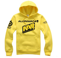 High quality Brand MALE Hooded tracksuit for men Natus Vincere Man spring 2014 fashion Yellow Mens Hoodies Free shipping FG170