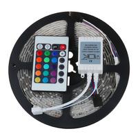 3528 RGB Color Changing16.4FT 5M LED Strip light Waterproof LED Flexible Ribbon Strip Lighting Kit 12V 300 LEDs+24keys control