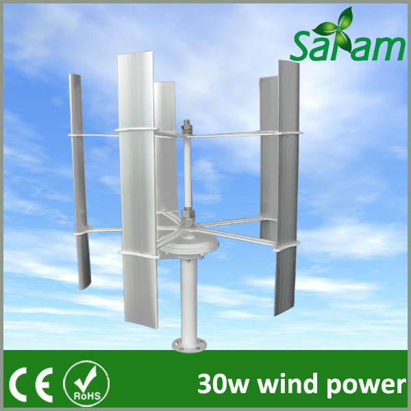 30W DC 12V 24V Vertical Mini Wind Energy Generator(China (Mainland))