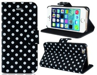 Free Shipping Polka Dot Print Faux Leather Flip Case for iPhone 5S/5