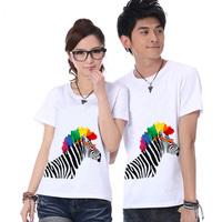 2014 new summer women's short-sleeved T-shirt female Korean couple T-shirt big yards summer bottoming shirt cotton T-shirt
