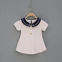 2014 New,baby girls princess dress,children summer dress,preppy style,cotton,lace,pink/white,5 pcs / lot,wholesale,1232