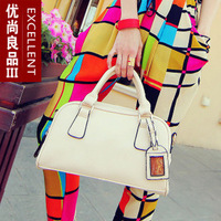 New Fashion 2014 hot sale Candy Color women Handbag High quality PU leather women messenger bags Solid Zipper women Evening bag