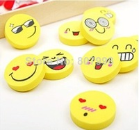 Environmental Smile Face Erasers Rubber for pencil kid Funny Cute Novelty Eraser Office Accessories School Supplies
