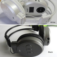 HOT SELL  FM Radio TF Card Sport MP3 Player LCD Foldable Wireless Headphone Headset T0696 P